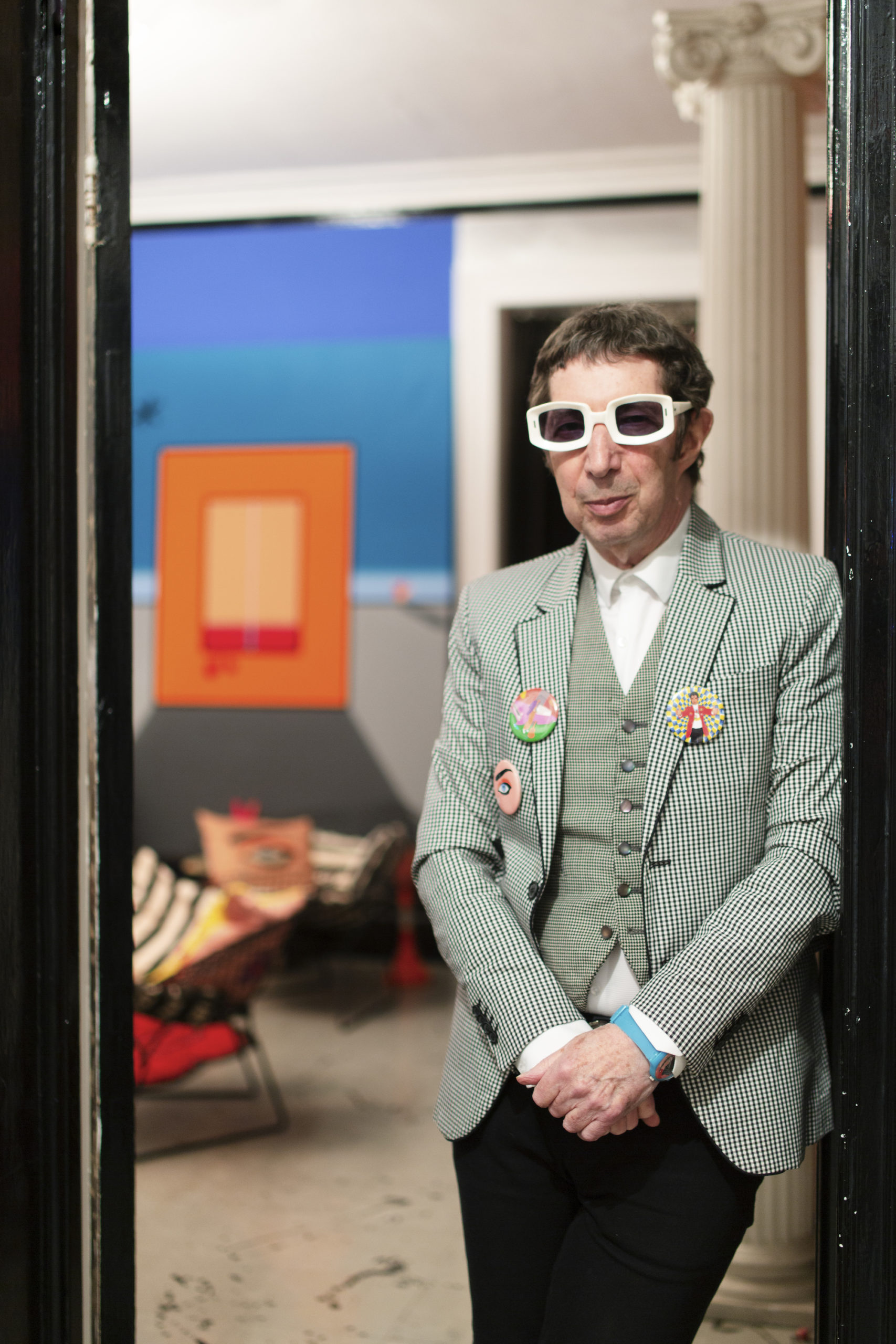 Duggie Fields at home, 2020. Photographed by Louise Benson for Elephant