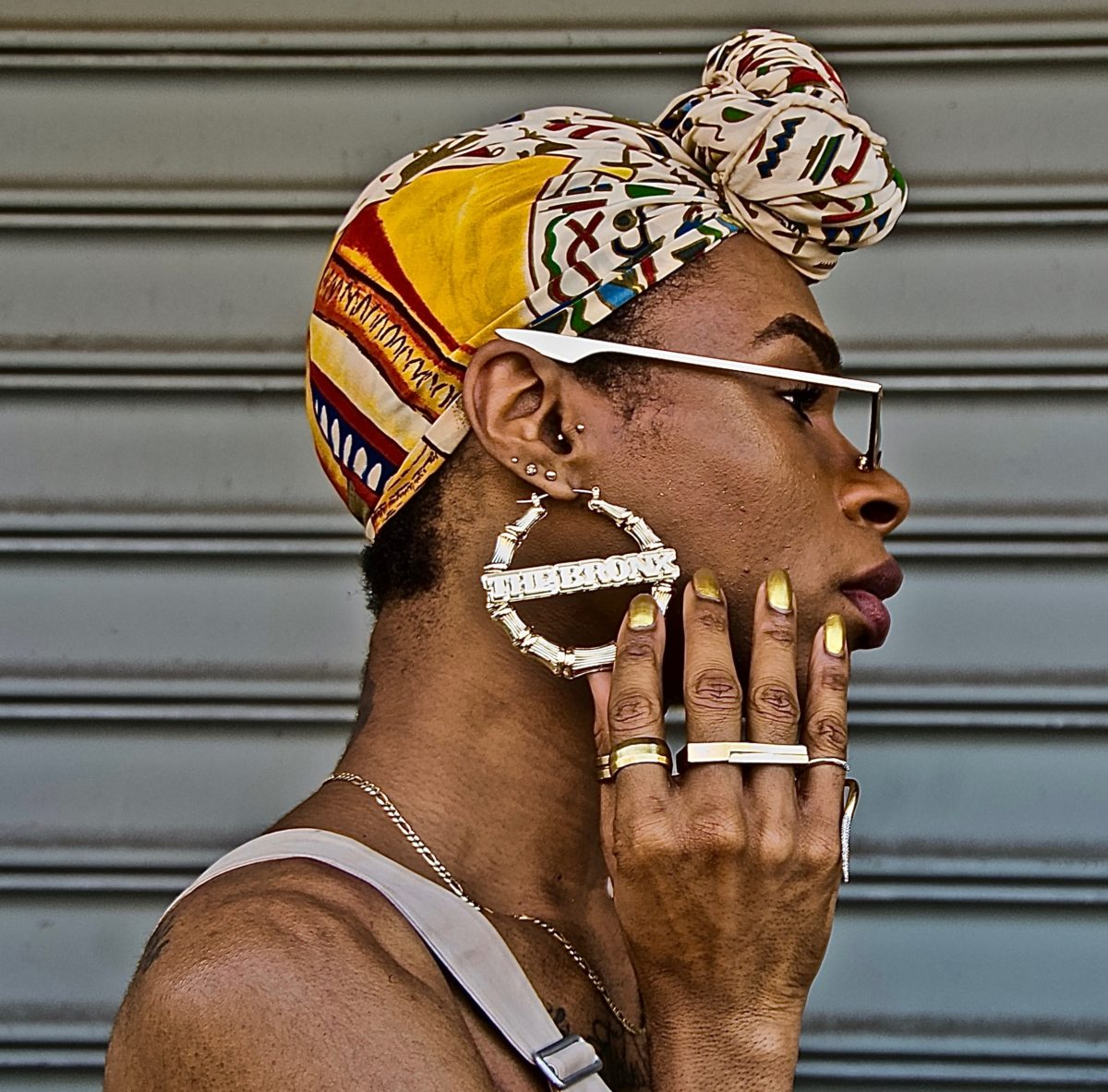 Ruben Natal-San Miguel, Bronx (Earring), 2019. Courtesy the artist and Claire Oliver Gallery
