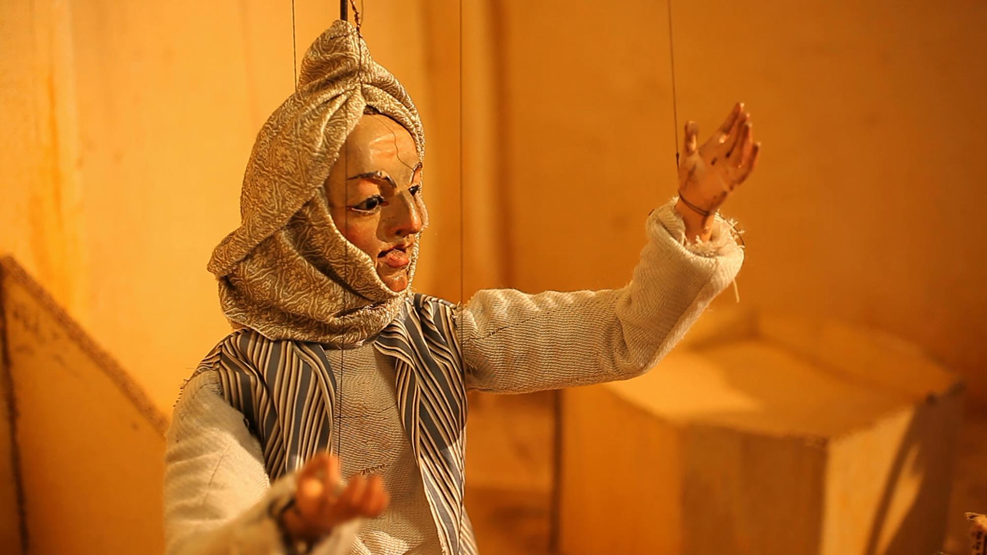 Still of Wael Shawky, Cabaret Crusades I: The Horror Show File (2010) © Wael Shawky, courtesy Lisson Gallery