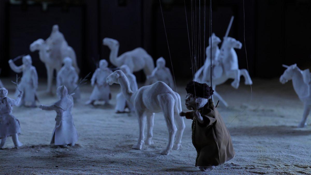 Still of Wael Shawky, Cabaret Crusades II: The Path to Cairo (2012) © Wael Shawky, courtesy Lisson Gallery