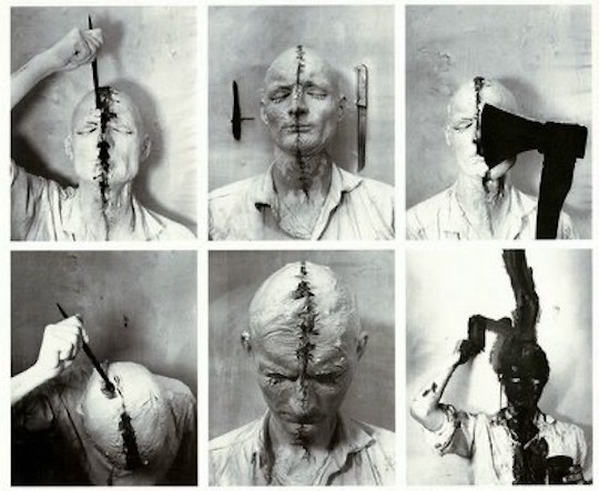 Günter Brus, Self Painting (Film Action), 1965. Courtesy Museum Moderner Kunst Stiftung Ludwig Wien