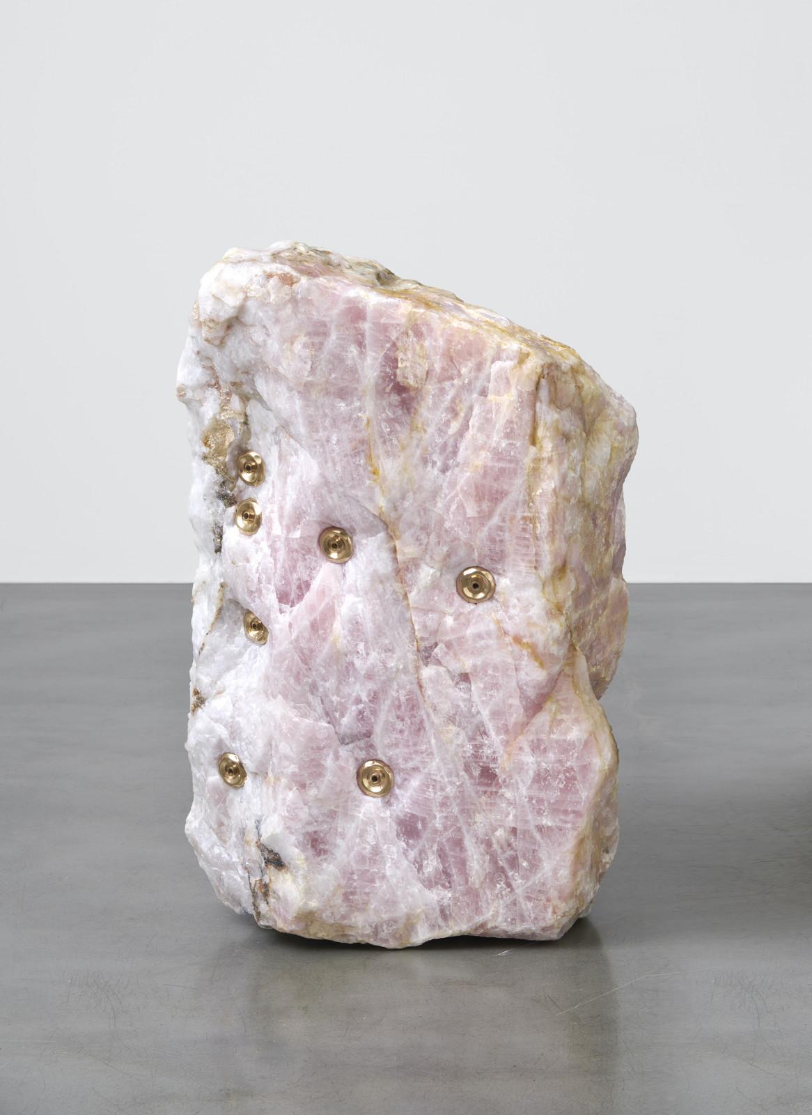 Mika Tajima, Pranayama (Monlith, E, Rose Quartz), 2020. Courtesy the artist, Kanye Griffin Corcoran and Simon Lee Gallery