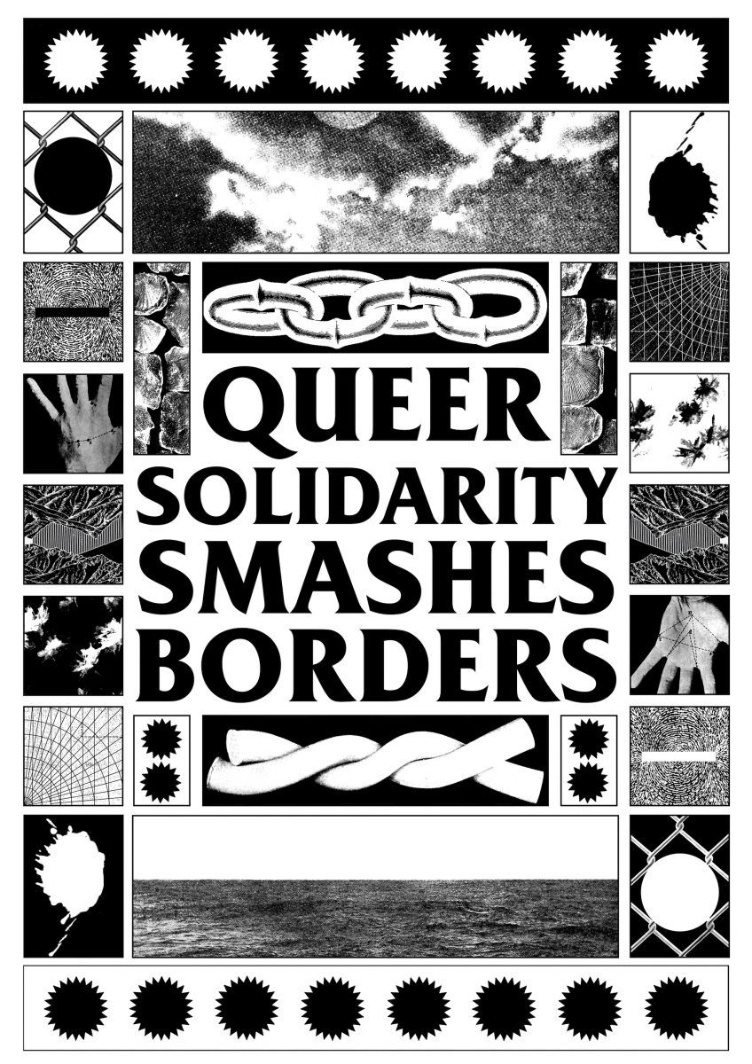 Black Lodge Press, Queer Solidarity Smashes Borders, 2021. Courtesy of the artist