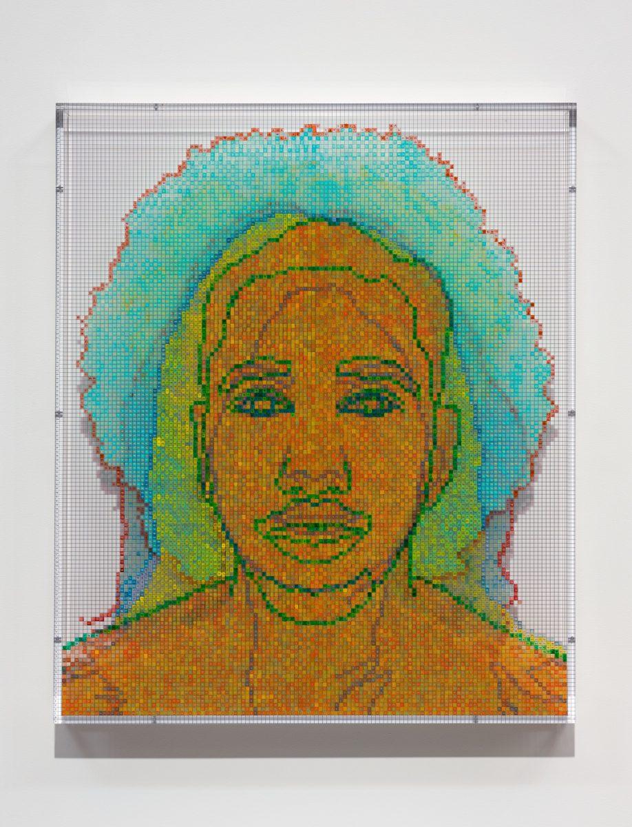Face #7, Eduardo Soriano-Hewitt (Black/Filipino), 2020. © Charles Gaines. Courtesy the artist and Hauser & Wirth