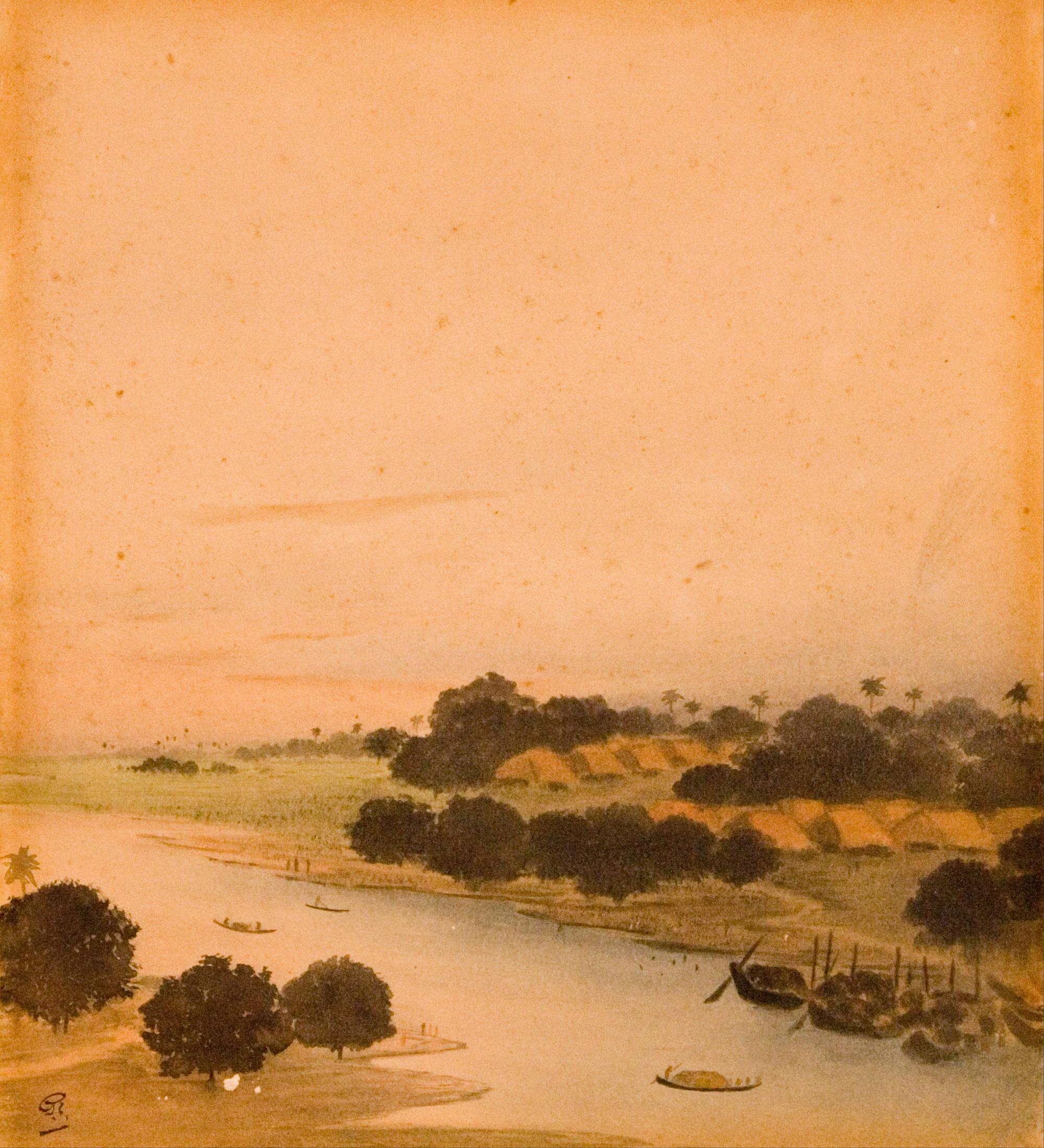Gaganendranath Tagore, River_View, 1905-1915
