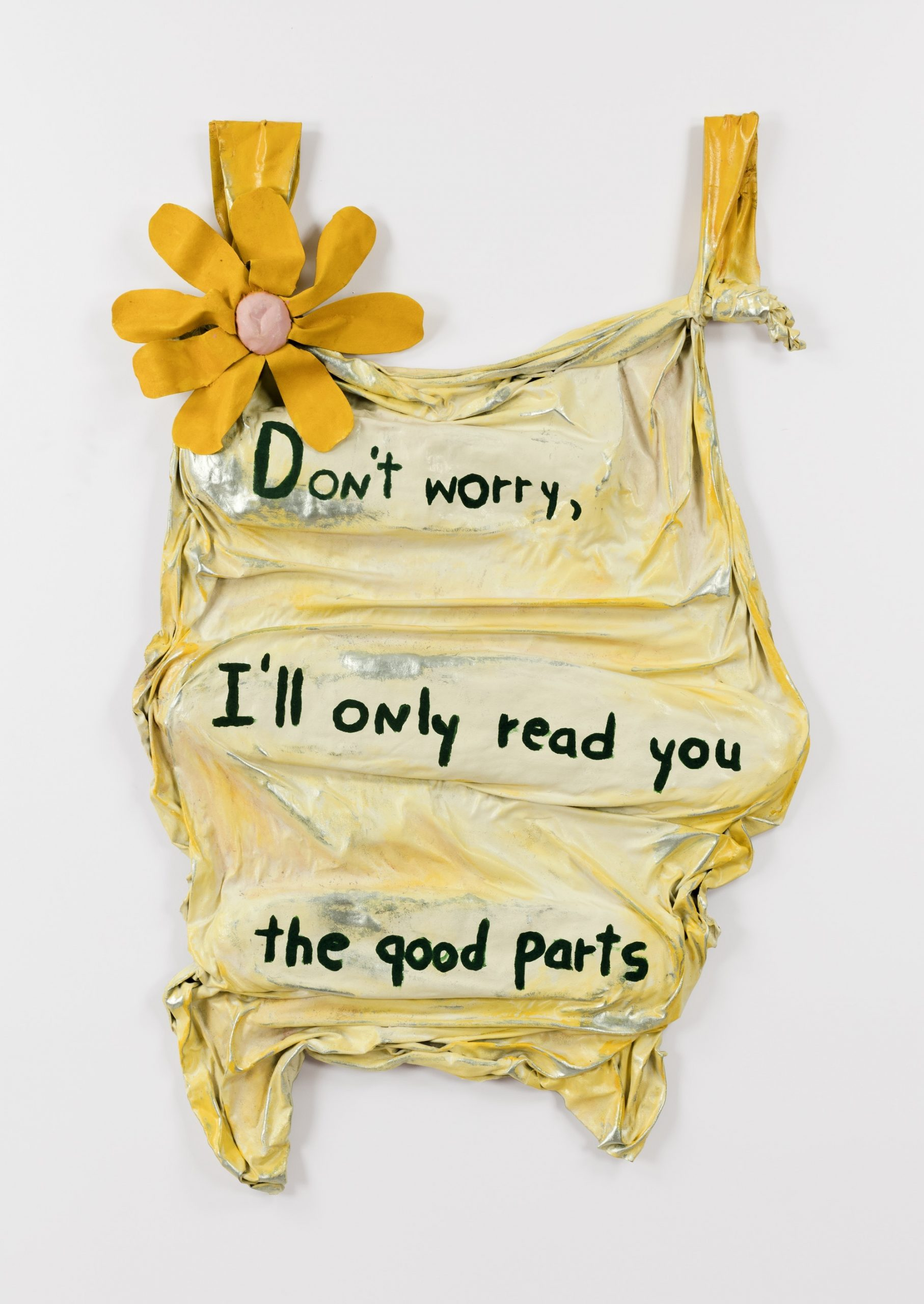 Ree Morton, Don't Worry, I'll Only Read You the Good Parts, 1975. Photo by Joerg Lohse © Estate of Ree Morton, courtesy of Alexander and Bonin, New York