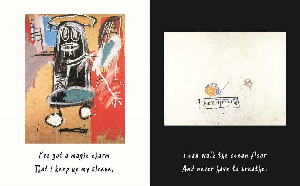 Spread from the 25th Anniversary Edition of Life Doesn't Frighten Me. Courtesy Abrams Books