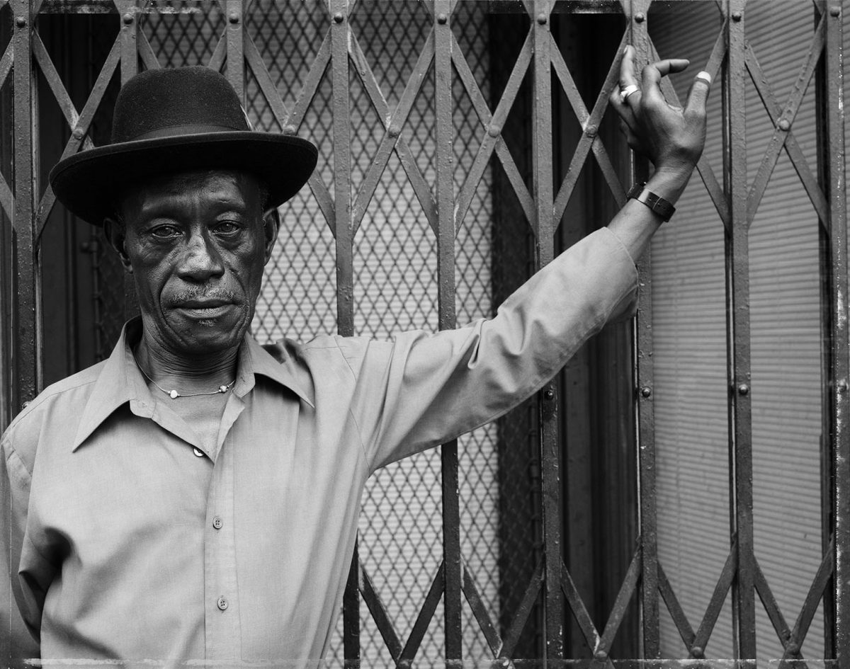 A Man at Fulton Street and Cambridge  Place, Brooklyn, NY, 1988. Courtesy the artist and MACK