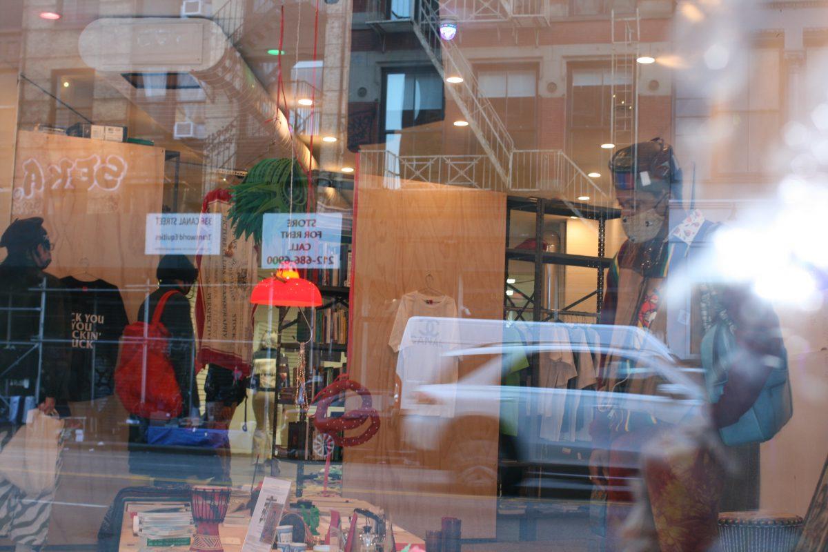 Canal Street Research Association in retail drag. Photo: Betty Roytburd. Courtesy Shanzhai Lyric