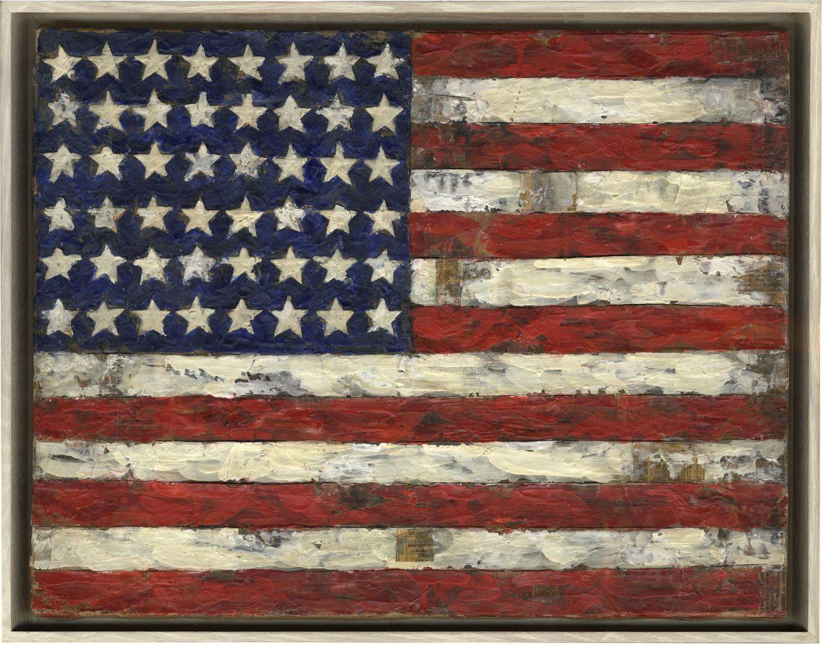 Elaine Sturtevant, John's Flag, 1966. Photo: Ulrich Ghezzi. © Sturtevant Estate