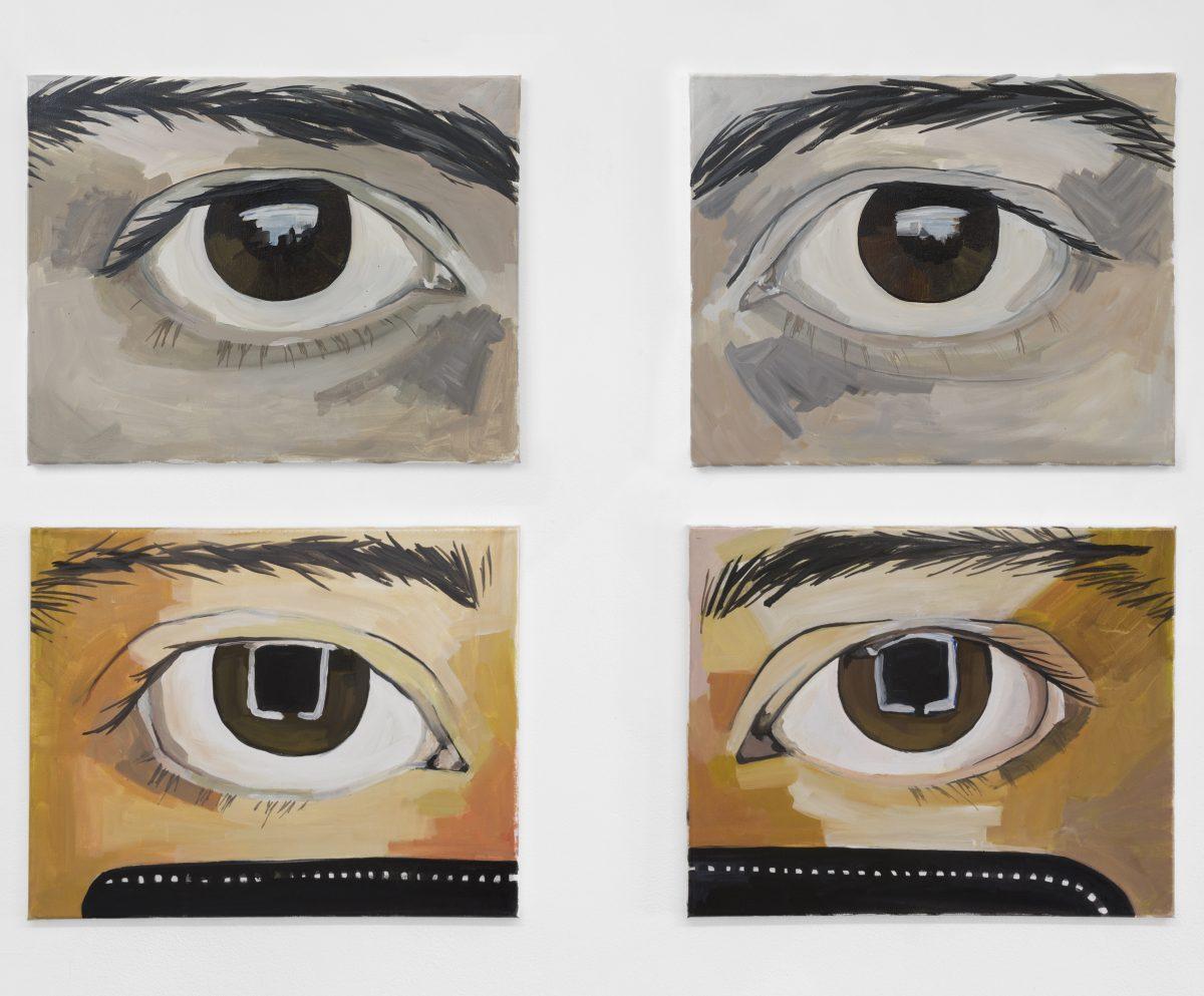 Morag Keil, Eye 1 – 4, 2018. Photo: Ed Mumford. Courtesy the artist and Jenny's, LA