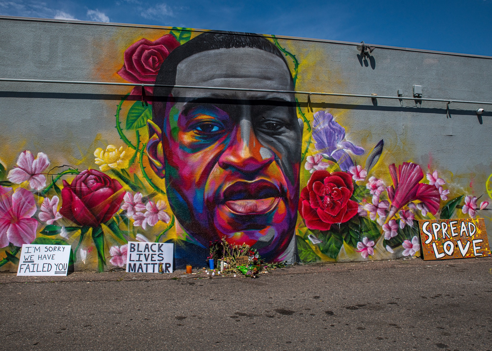 George Floyd mural on Colfax Avenue and Race St., Denver, Colorado. Courtesy Unsplash