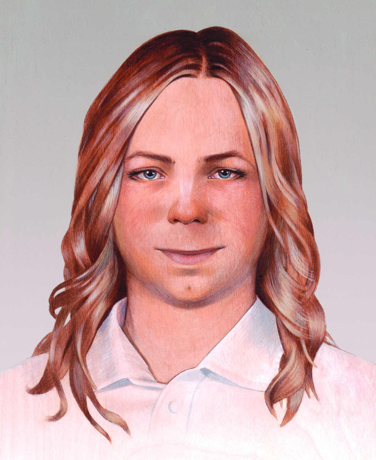 Alicia Neal, Final Painting of Chelsea Manning, 2014. Courtesy of Alicia Neal