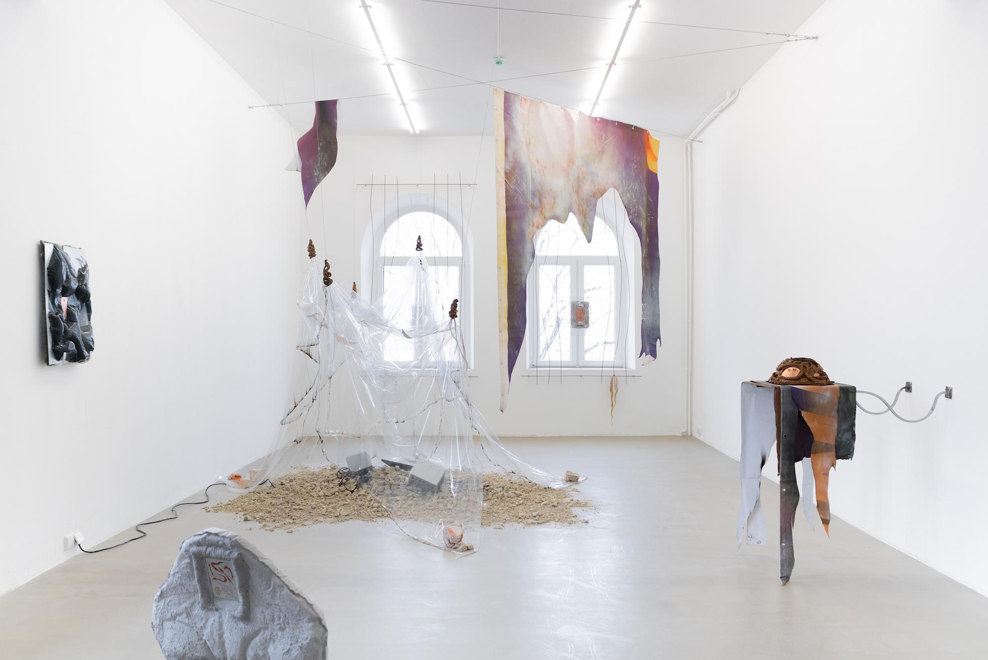Exhibition 'Diluvial Valleys' at Swallow, curated by Vaida StepanovaitÄ—, 2021 Photographer: Laurynas Skeisgiela