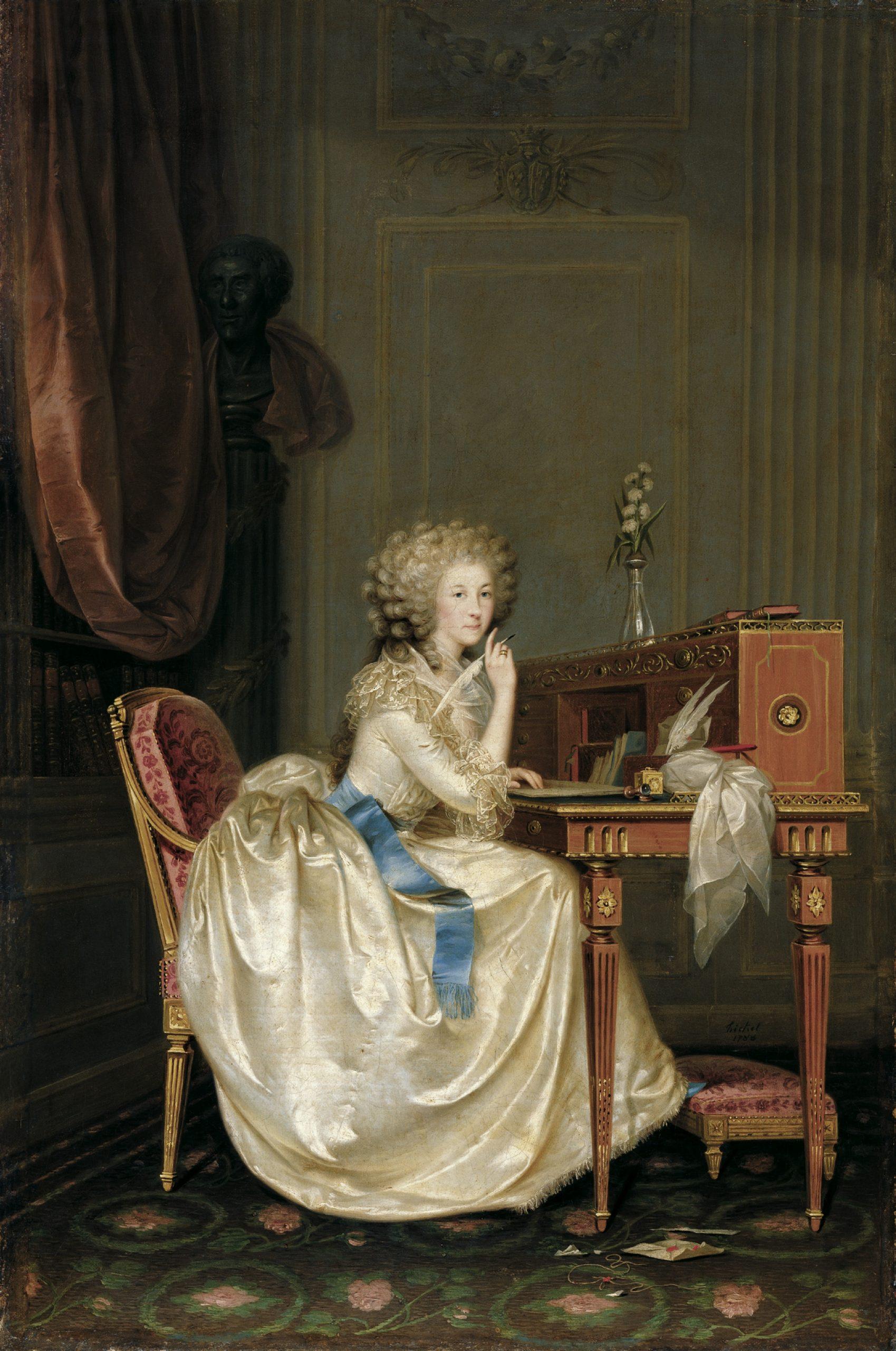 Anton Hickel, Portrait of Marie-Thérèse, Princesse de Lamballe, 1788 via Wikimedia Commons