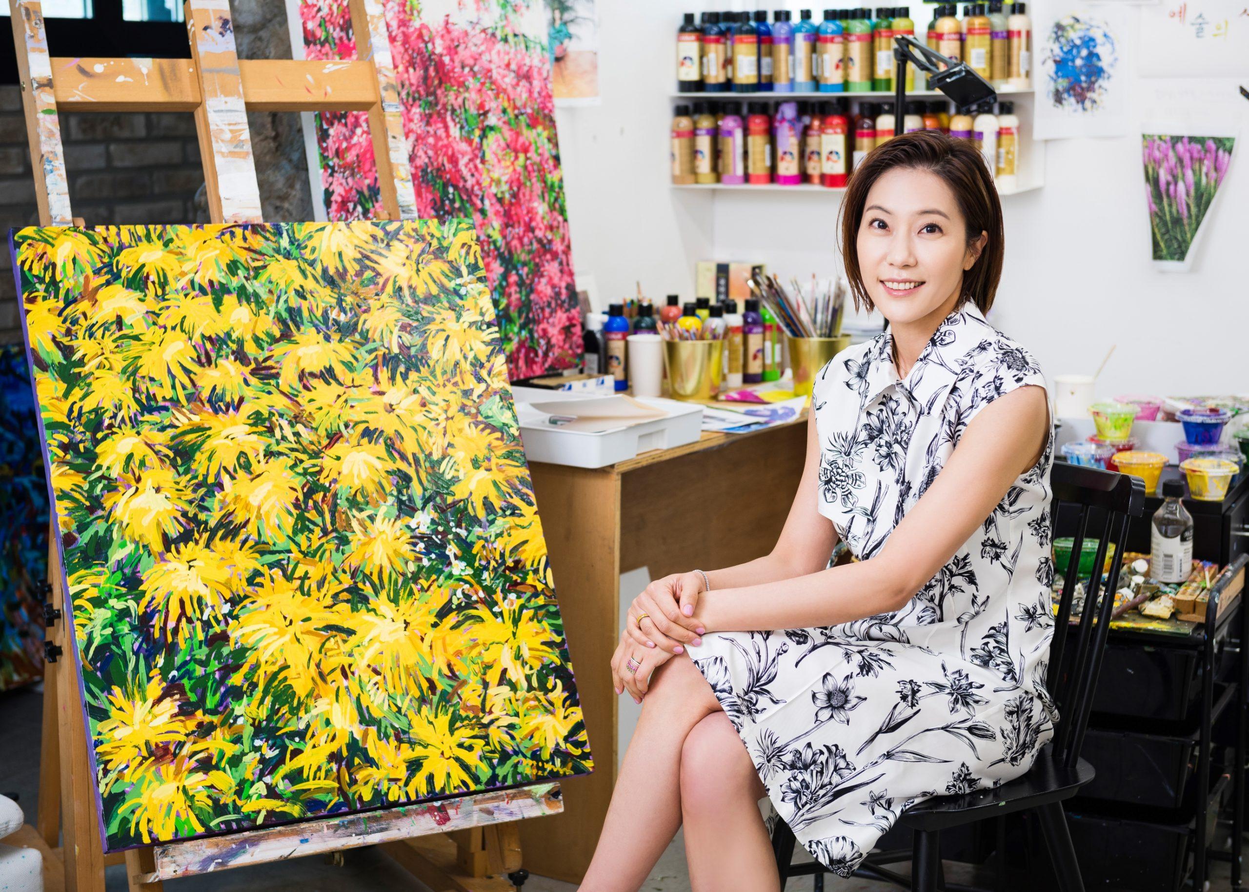 Hur Boree photographed in her studio