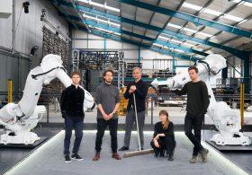 Left to right: Adam Wadey, Richard Broom, Jason Bruges, Beckie Cove, Martin Walsh