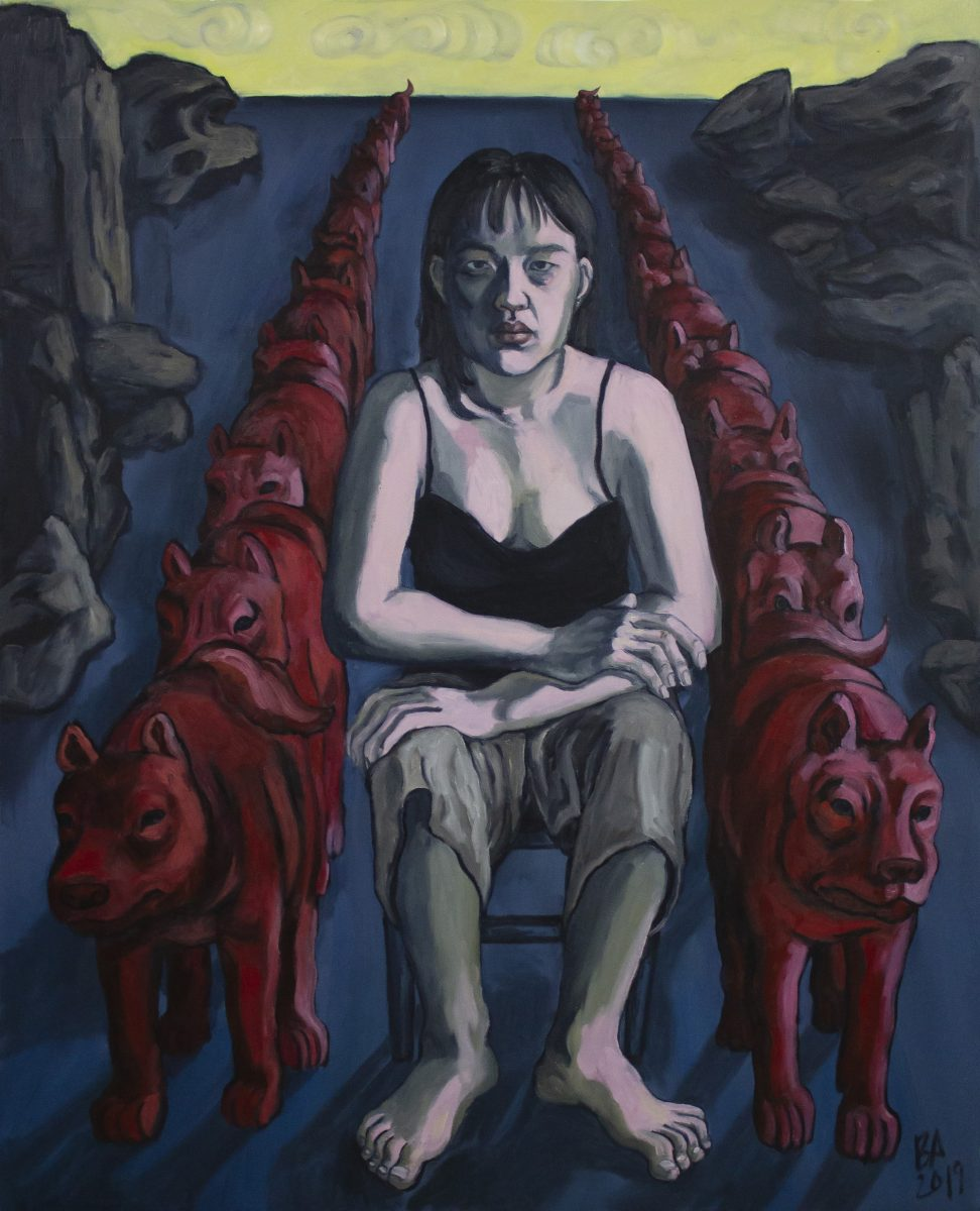 Amanda Ba_Self Portrait with Red Dogs_2019