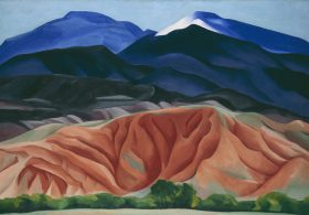 Georgia O'Keeffe. Black Mesa Landscape, New Mexico / Out Back of Marie's II, 1930. Oil on canvas, 24 1/4 x 36 1/4 inches. Georgia O'Keeffe Museum. Gift of The Burnett Foundation © Georgia O'Keeffe Museum