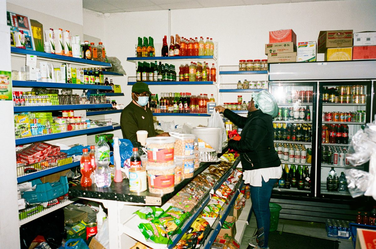 Eugene Takwa inside African Cash & Carry, Woolwich