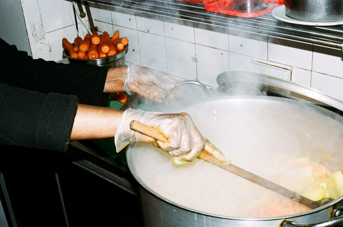 Cooking inside Zeret Kitchen in Camberwell