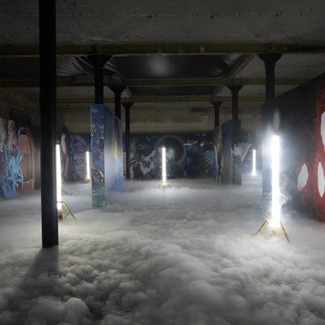 Quentin Lacombe, Event Horizon_ Installation View, 21 Bruce Street, Belfast