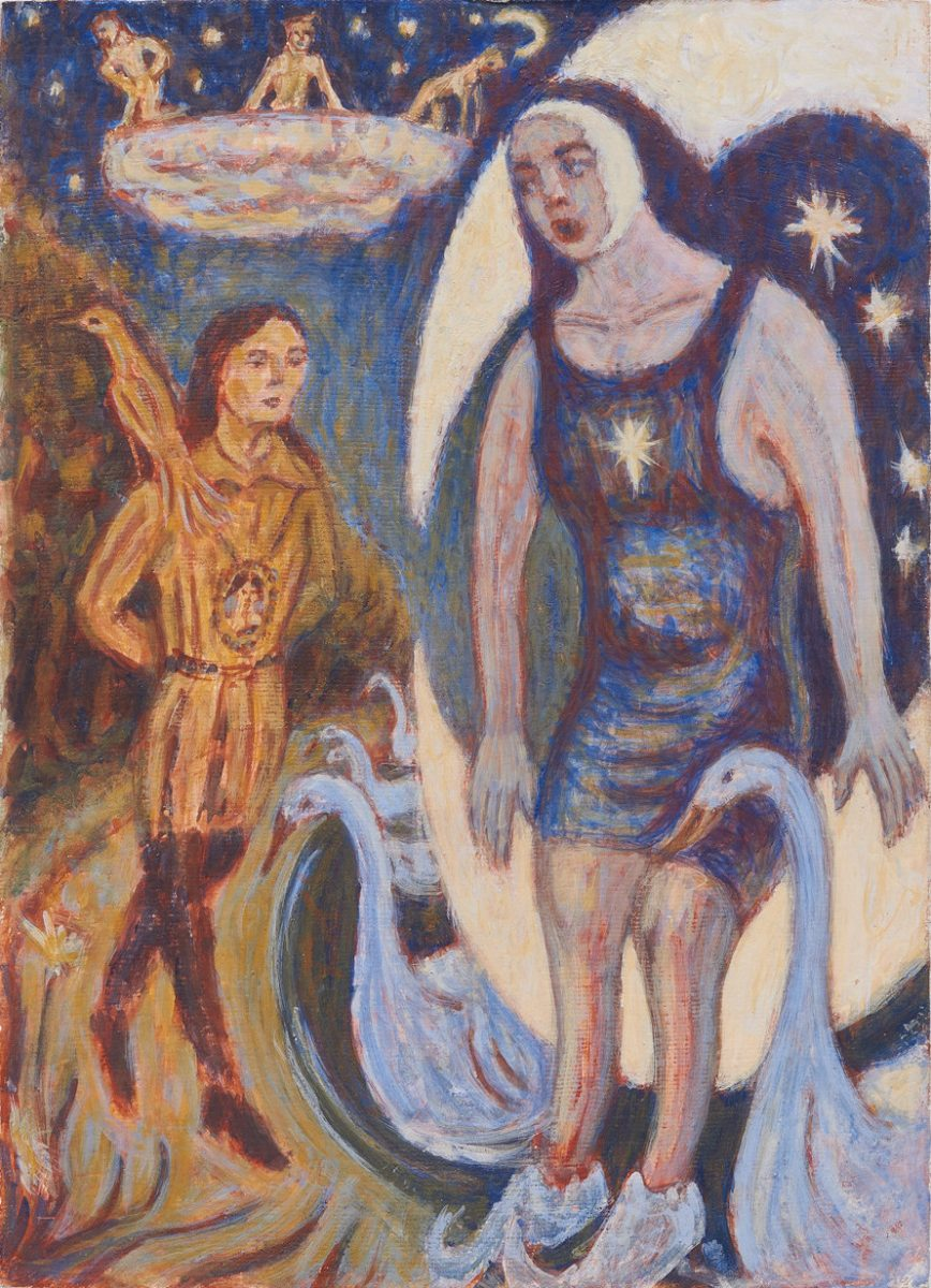 Tamino and Papageno in the Woods. Egg Tempera. 2020