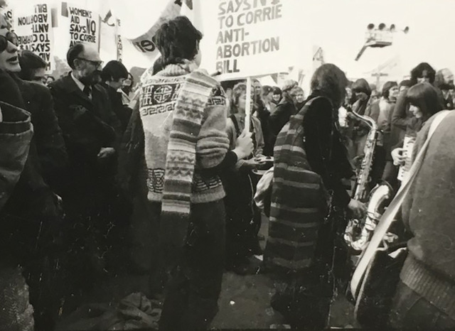 Protest against the Corrie Amendment to the 1967 Abortion Act in the United Kingdom. Courtesy Janine Wiedel