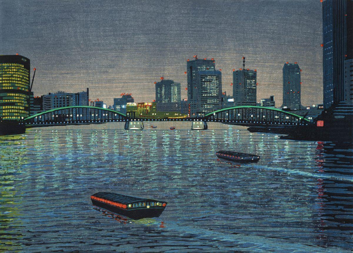 Sugiyama Mototsugu, Good Evening Sumida River, 1993. © The Artist. Courtesy Ashmolean Museum