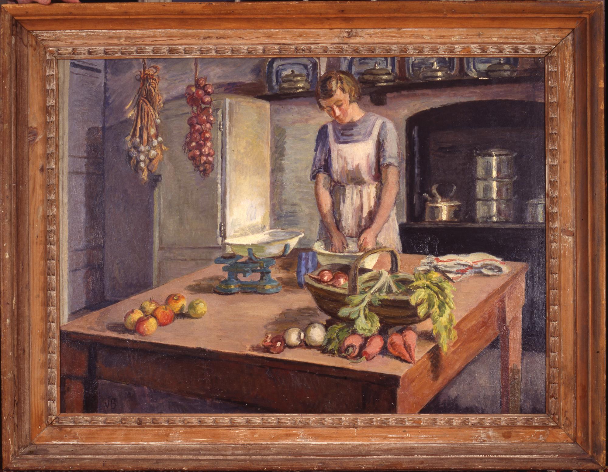 Venessa Bell, The Kitchen at Charleston, c.1943. © Estate of Vanessa Bell. All rights reserved, DACS 2021, Photo: Charleston Trust