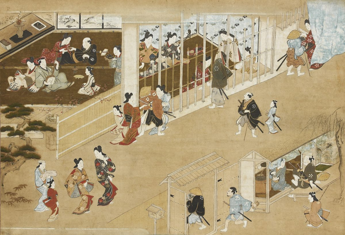 Unknown artist in the style of Hishikawa Moronobu, late 17th century. Courtesy Ashmolean Museum