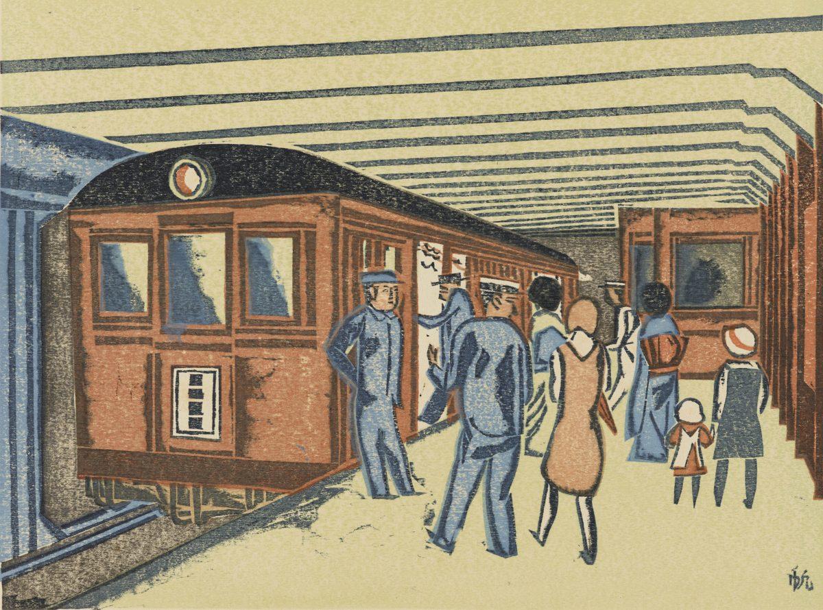 Maekawa Senpan, Subway, 1931. Courtesy Ashmolean Museum