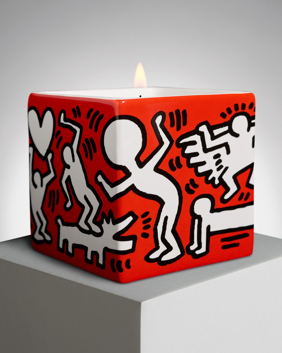 A Keith Haring candle by Ligne Blanche