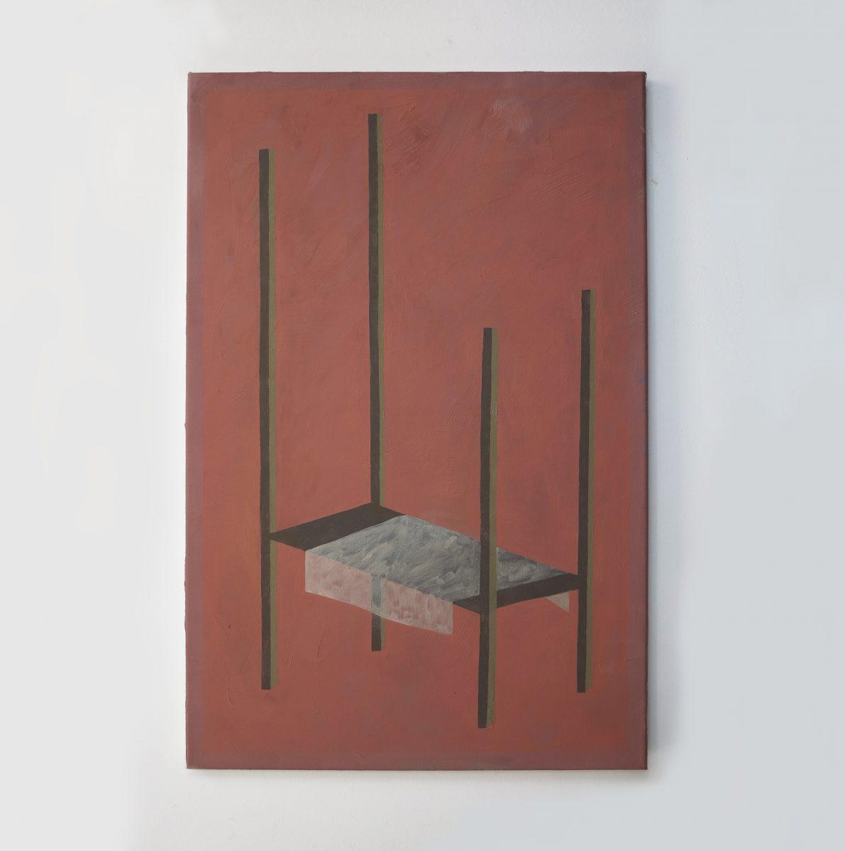 Nina Silverberg, Pink Bed, 2021
