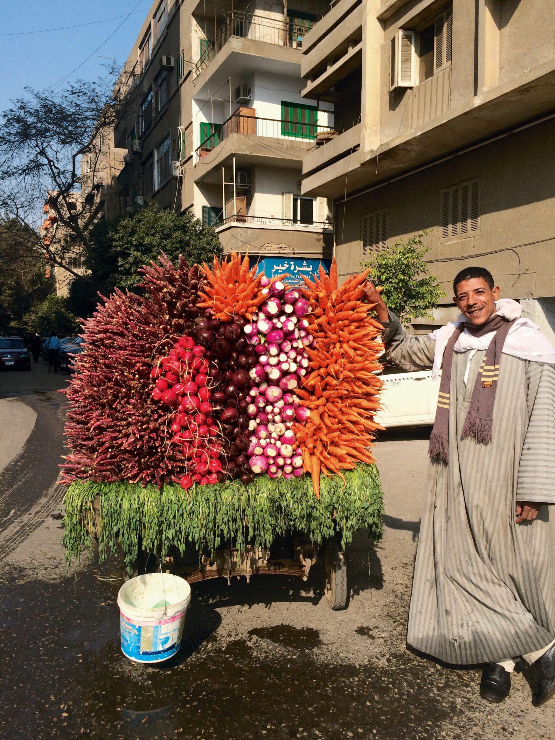 Ghada Amer. Mama's Eggplant Salad. Image: The Carrot Vendor, December 2018. Courtesy the artist