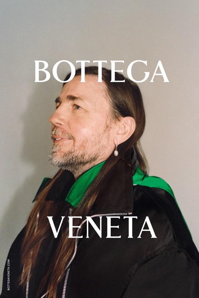 Portrait of Mark Leckey in Bottega Veneta's Spring Summer 2021 campaign