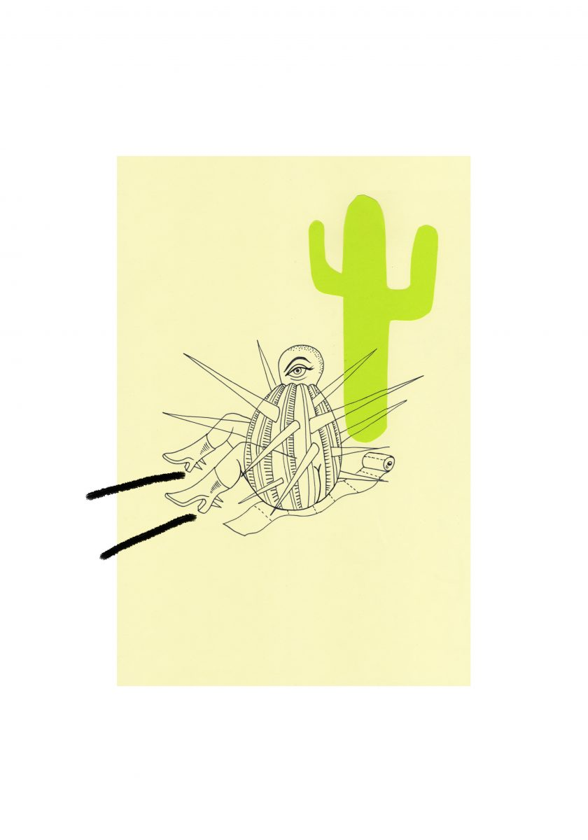 Quarantine drawings_Sarah Yu Zeebroek, 2020